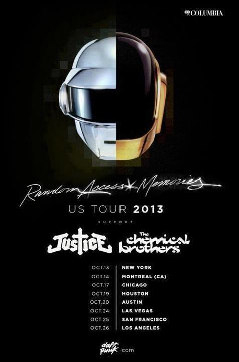Daft Punk, Justice y The Chemical Brothers de gira juntos