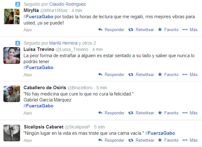 #FuerzaGabo tuits