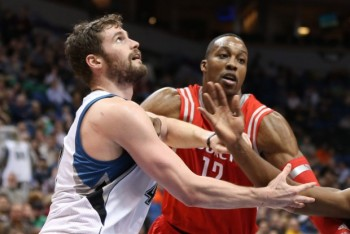 Kevin Love vs Dwight Howard Rockts Timberwolves NBA