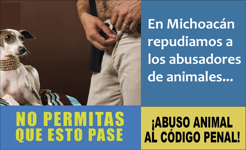 Michoacan abuso sexual a animales bestialidad