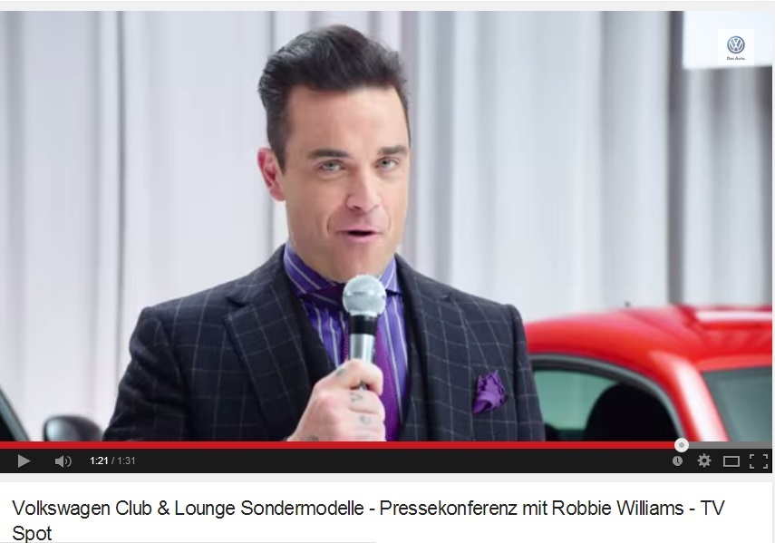 Robbie Williams Es El Nuevo Director De Marketing De La Volkswagen
