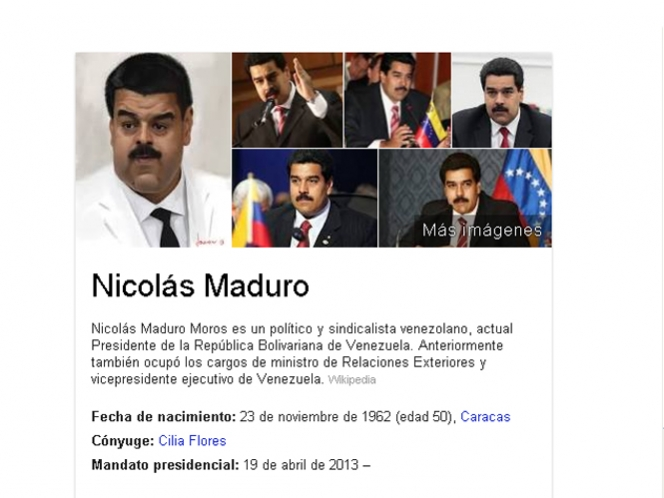 Asegura Agencia de noticias que Google realiza campaña para desacreditar a Maduro
