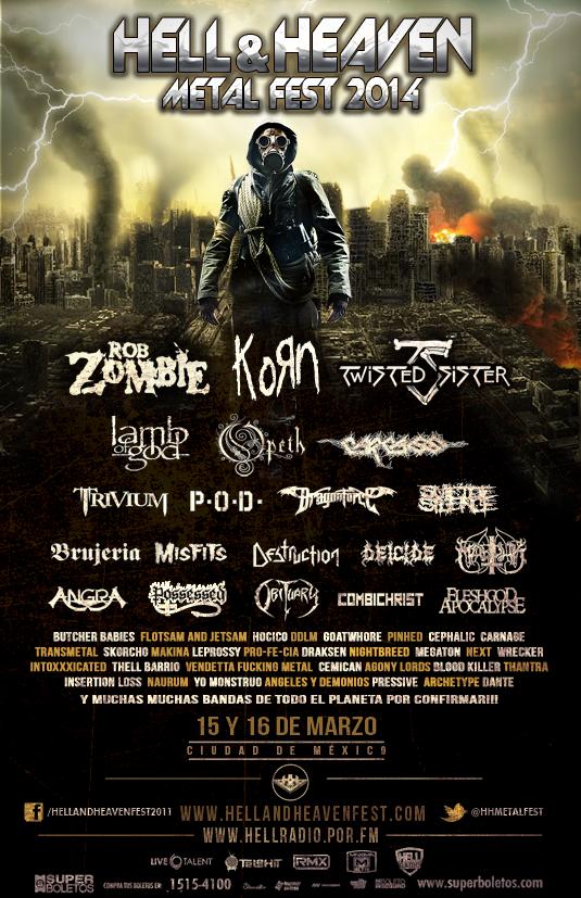 póster Hell&Heaven Fest México 2014