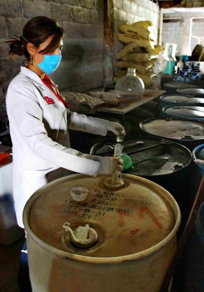 Desmantelan PGJE y SSP laboratorio de metanfetaminas en Charo Michoacán 1