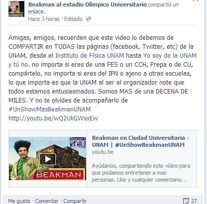 Photo of Video: Beakman admiradores de México necesitan #UnShowBeakmanUN más