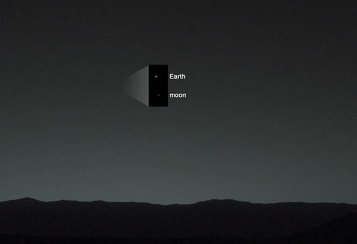 Photo of Captan la primera imagen de la Tierra vista desde Marte