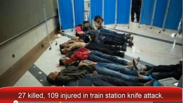 Photo of Video: Mueren 27 personas acuchilladas en estación de tren en China
