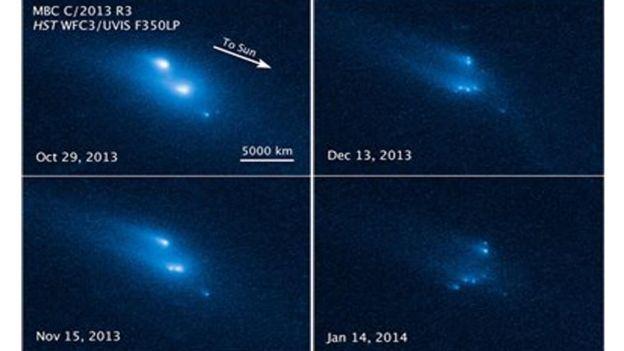 Photo of Telescopio Hubble capta impactantes fotografías de asteroide fragmentándose