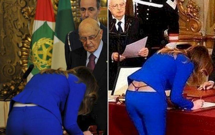 ministra de italia en tanga