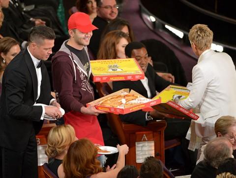 repartidor de pizza en los Oscar