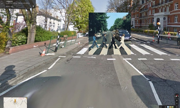Google Street View portada de Abbey Road de The Beatles