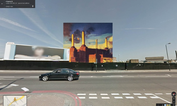 Google Street View portada de Animals de Pink Floyd