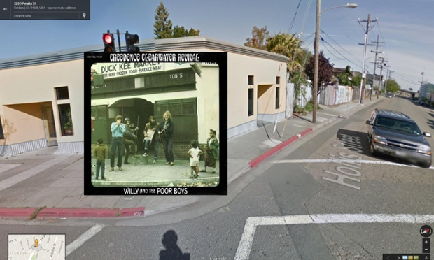 Google Street View portada de Willy and the Poor Boys de Creedence Clearwater Revival