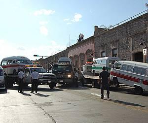 Desalojo del Centro de Morelia de transportistas liderados por Pasalagua en marzo del 2010 / Foto: OEM