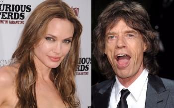 Angelina Jolie y Mick Jagger