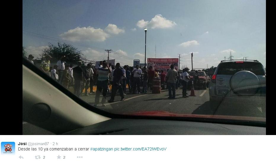 fuerzas rurales bloqueo apatzingan 14 dic
