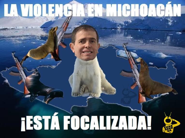 violencia en Michoacán está focalizada Comisionado Alfredo Castillo meme 6 enero 2015