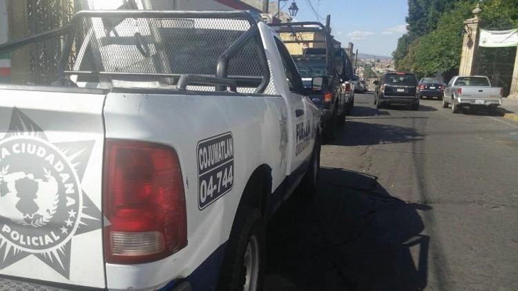 Granaderos Se Encuentran Estacionados En El Carmen Ante Mitin Normalista