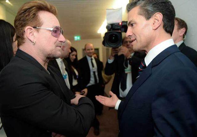 Peña Nieto Saludo A Bono De U2 En Suiza