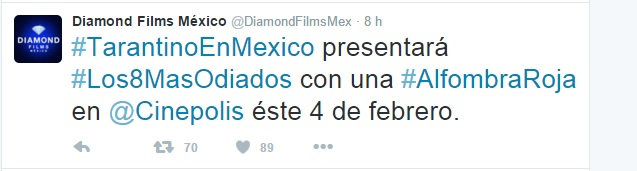 Quentin Tarantino Vendrá A México