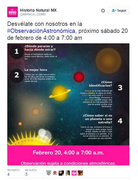 Museo De Historia Invita A Que Te Desveles Para Ver PlanetasMuseo De Historia Invita A Que Te Desveles Para Ver Planetas