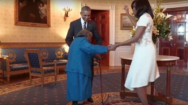 Virginia McLaurin-barack obama-michelle-white house