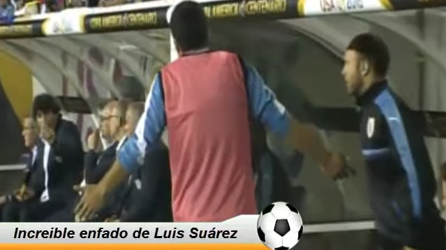 Luis Suárez se enoja Copa América 2016