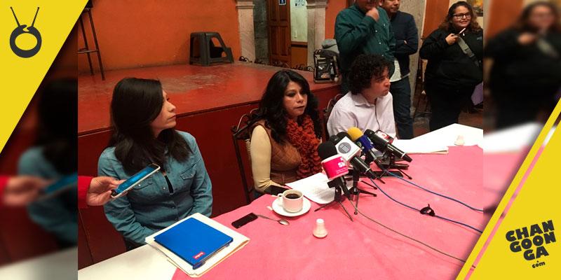 Guadalupe-Pichardo-Escobedo-dirigente-STDSSM-Michoacan-rueda-de-prensa