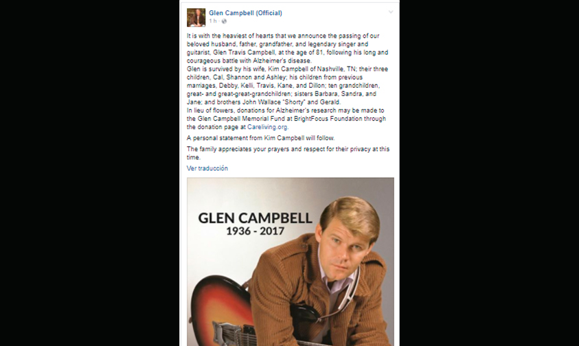 música-country-Glen-Campbell-muere