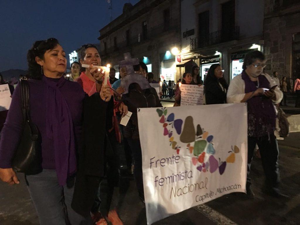 Morelianas marcharon reclamando la noche noticias de for Noticias de ultima hora espectaculos mexico