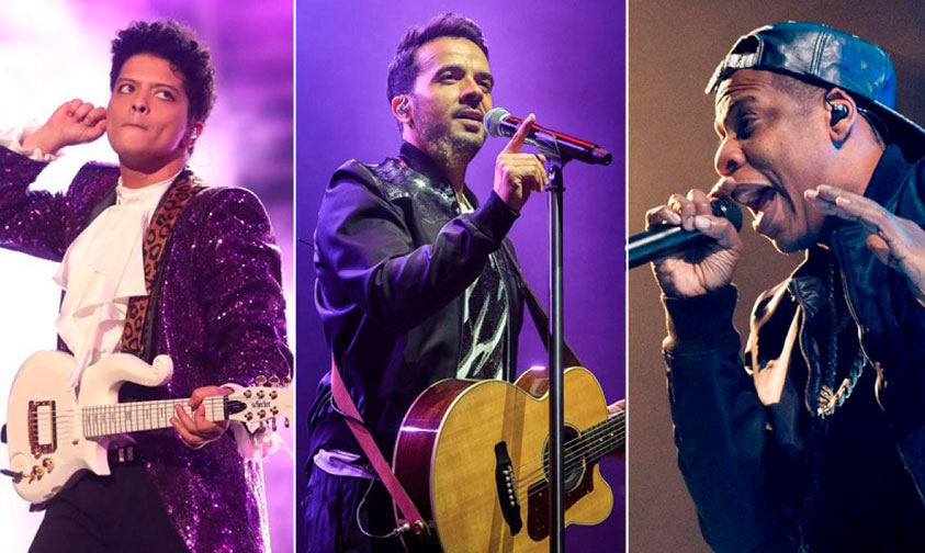 Bruno-Mars,-Luis-Fonsi-y-Jay-Z