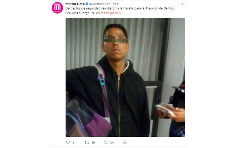 Photo of #CDMX Capturan A Otro Acosador Sexual En Metro Hidalgo