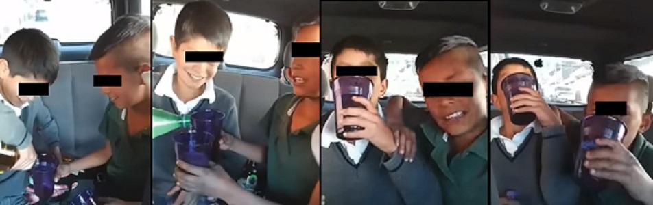 Photo of #WTF! Graban A Niños De Pátzcuaro Bebiendo Tequila Para Presumirlo En Redes
