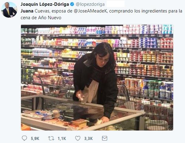 Photo of Le Llueven Críticas A López Dóriga Por Informar Que Esposa De Meade Estaba Haciendo El Súper