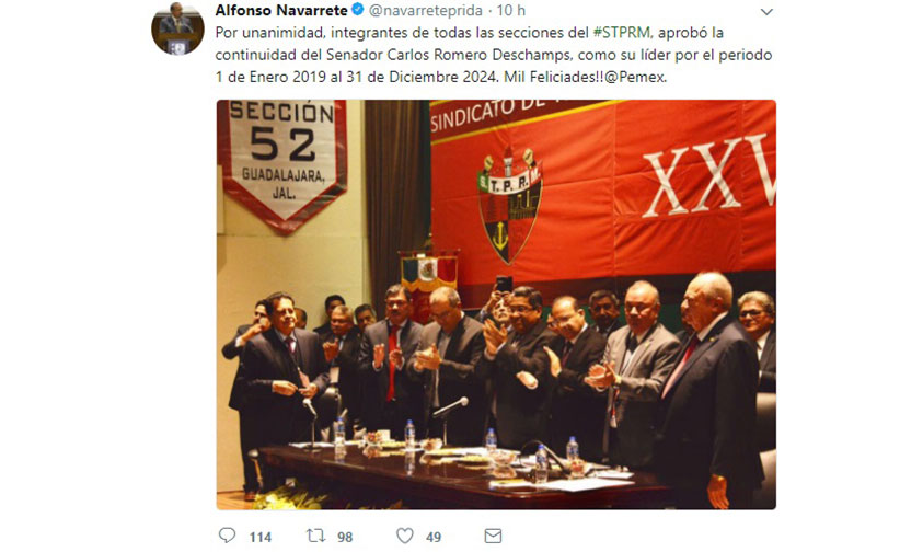 Photo of ¡Confirmadísimo! Romero Deschamps Como Líder Petrolero Hasta 2024