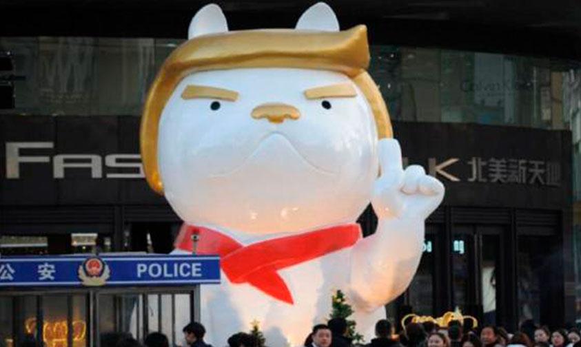 Photo of Caracterizan A Donald Trump En Perro En China