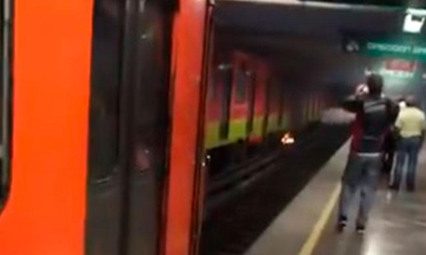 Photo of #CDMX  Captan Incendio Sobre Vías Del Metro, STC Lo Niega (Video)