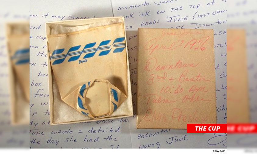 Photo of Subastan Vaso De Papel Usado Por Elvis Presley