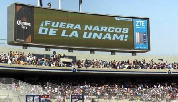"""Photo of """"¡Fuera Narcos De La UNAM!"""" El Mensaje Que Mandaron Desde El Estadio De Pumas"""