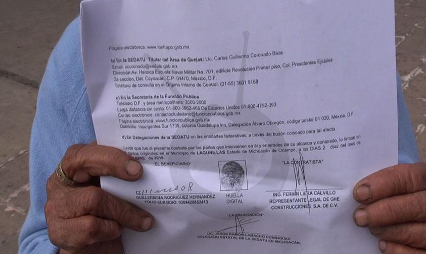 Fraude Lagunillas casas sedatu