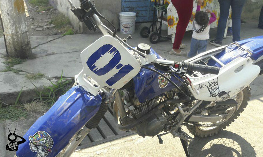 accidente muchachos moto