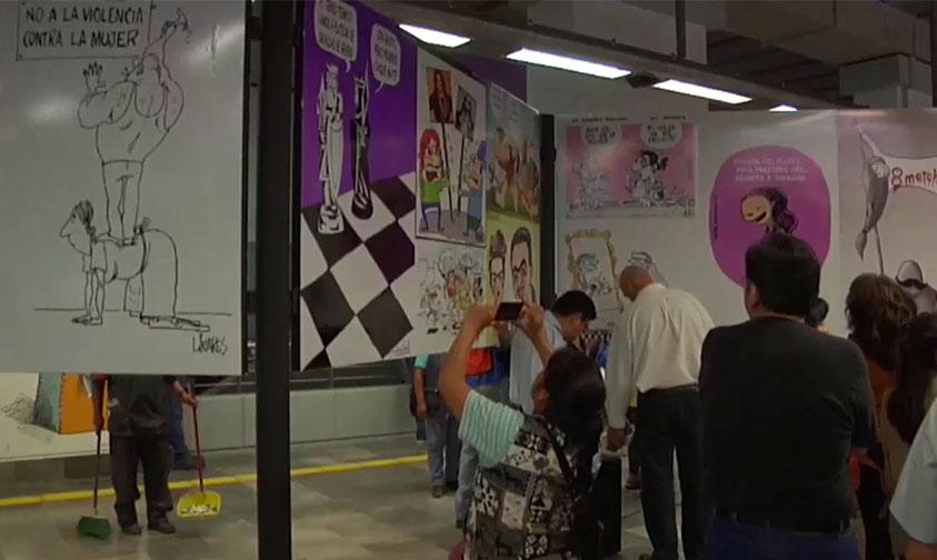 Photo of #CDMX Exponen Caricaturas Para Fomentar La Equidad De Género En El Metro