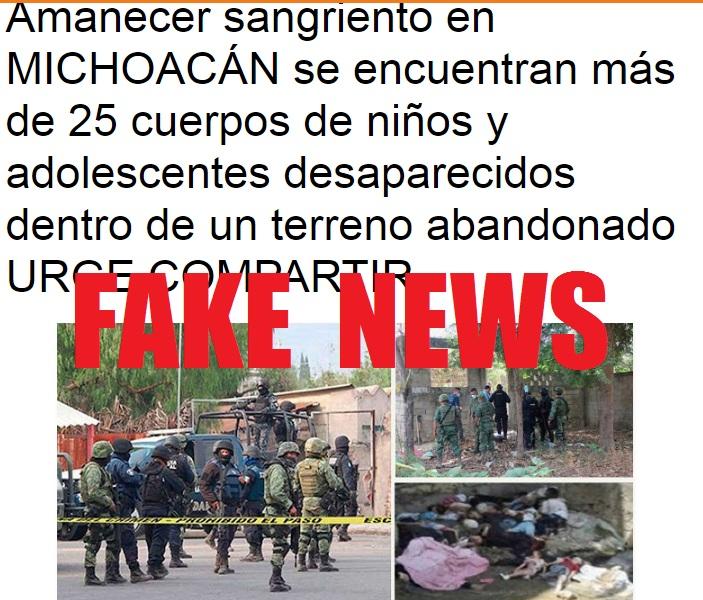 Photo of Circula Tremenda FAKENEWS De 25 Niños Muertos En Michoacán ..Con Fotos De Siria