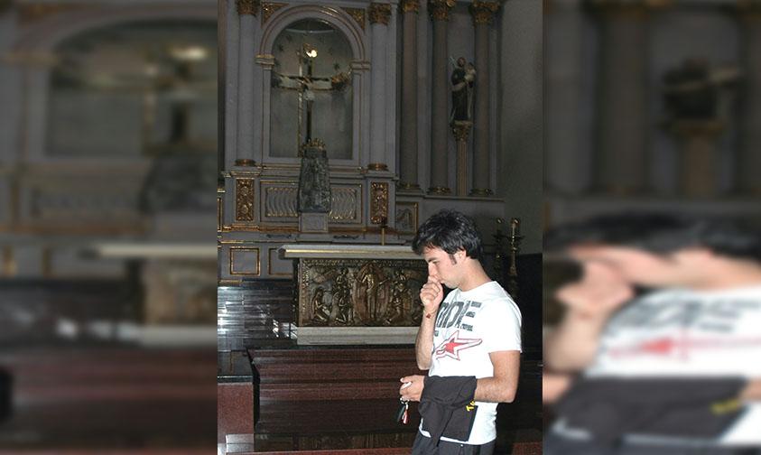 Photo of #Michoacán Checo Pérez, Piloto F1, Devoto Del Santo Cristo Milagroso De Tanhuato