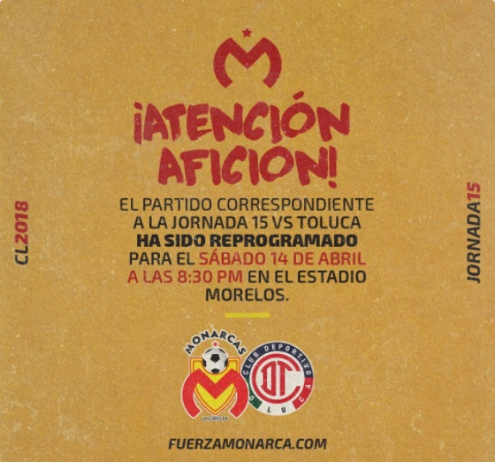 Photo of Cambia De Viernes A Sábado Partido Morelia Vs Toluca