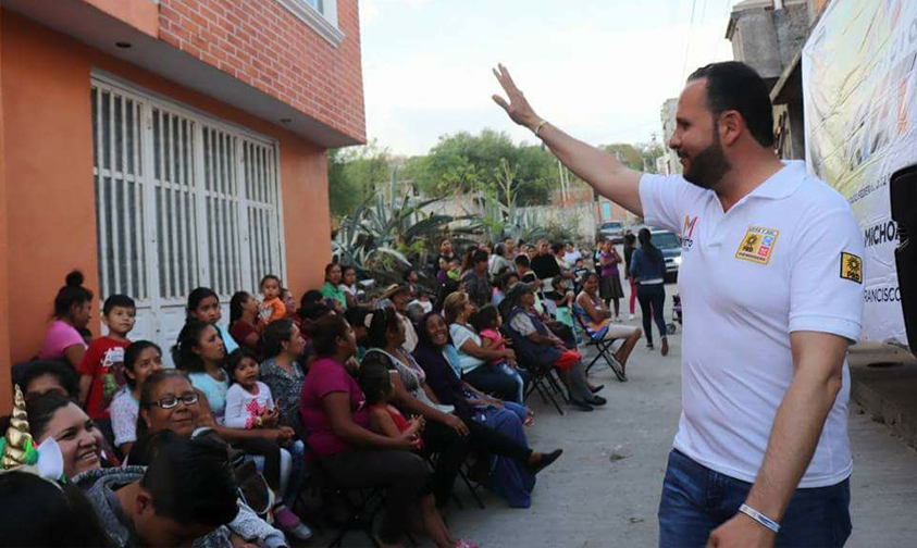 Photo of Seguridad, Empleo Y Educación, Compromete Mauricio Prieto A Habitantes De Cuitzeo