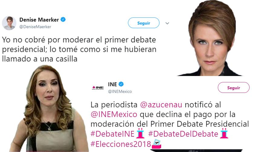Photo of Denise Maerker Y Azucena Uresti Rechazan 120 Mil Pesos De INE Por Moderar Debate
