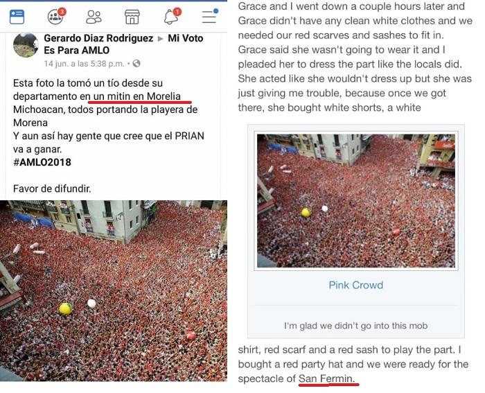 Photo of Fans 'Confunden' Mitín De AMLO En Morelia Con 'Pamplonada' Española En San Fermín