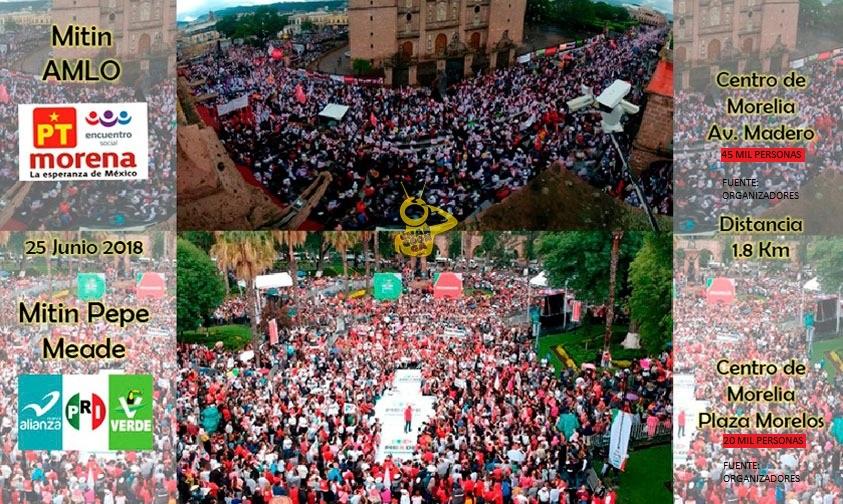 Photo of #Morelia Lo Dijeron Sus Organizadores: Meade Convocó A 20 Mil Personas Y AMLO A 45 Mil