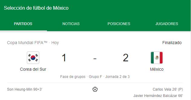 Photo of ¡México Gana 2-1 Contra Corea Del Sur!
